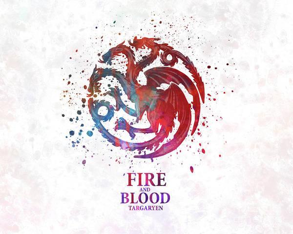 Targaryen In Watercolor Art Poster