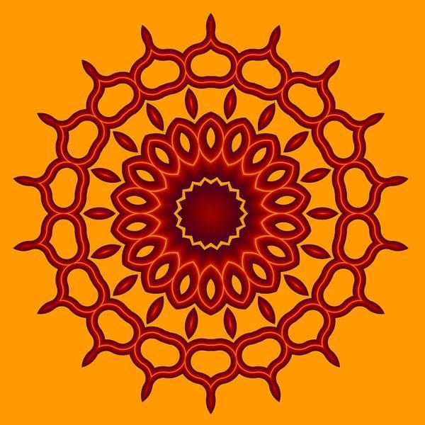 Teardrop Fractal Mandala Poster