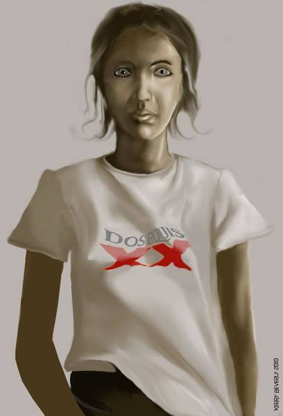 Tee Shirt Portrait Poster