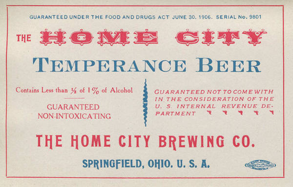 Temperance Beer Label Poster