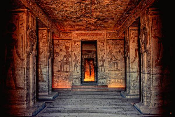 Temple Of Hathor And Nefertari Abu Simbel Poster