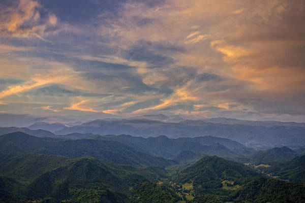 Tennessee Mountains Sunset Poster