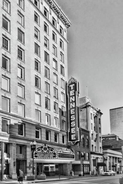 Tennessee Theatre Marquee Building Black And White Poster