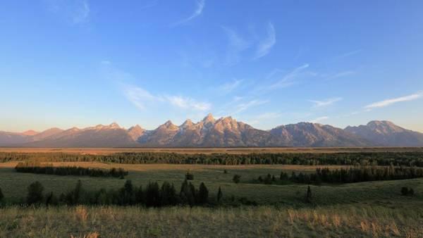 Teton Range After Sunrise Poster
