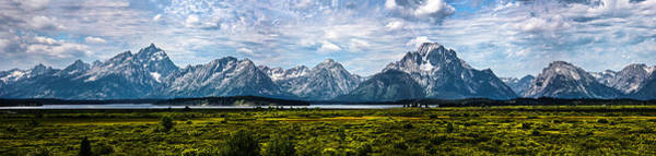 Poster featuring the photograph Tetons - Panorama by Shane Bechler