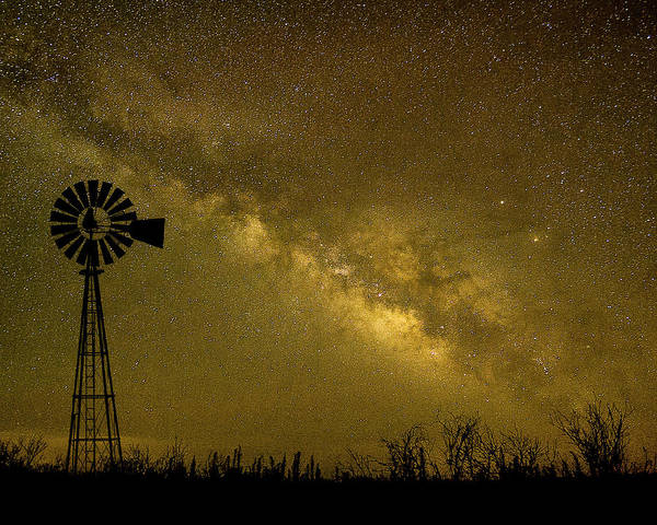 Texas Panhandle Milky Way Poster