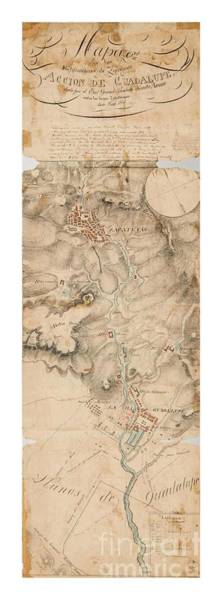 Texas Revolution Santa Anna 1835 Map For The Battle Of San Jacinto With Border Poster