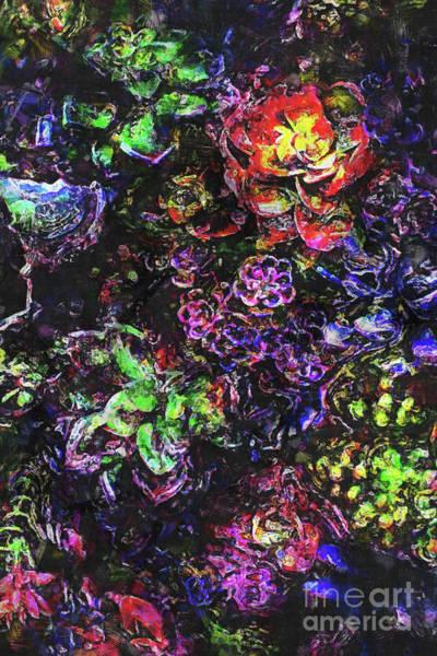 Textural Garden Plants Poster