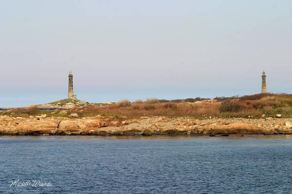 Thatcher Island Twin Lights Gloucester Massachusetts Poster