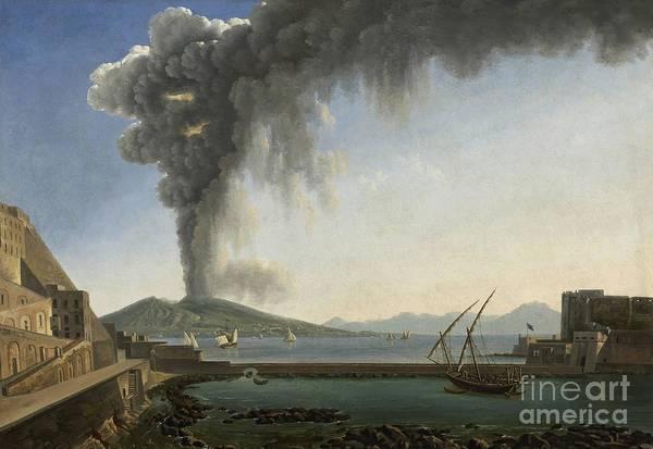 The 1813 Eruption Of Vesuvius Naples Poster