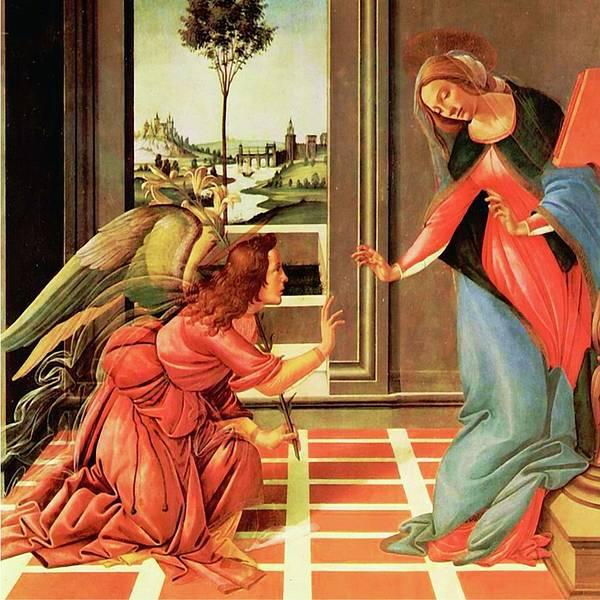 The Annunciation Virgin Mary Archangel Gabriel Poster