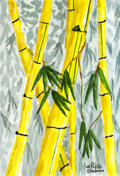 Poster featuring the painting The Bamboo Forest by Rich Stedman