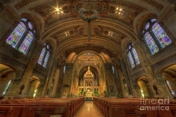 The Basilica Of Saint Mary Minneapolis Interior Poster