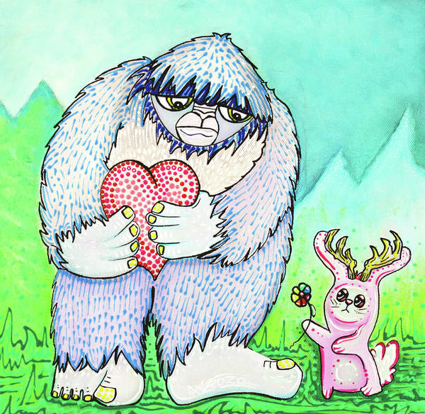 The Bigfoot And The Jackalope Poster