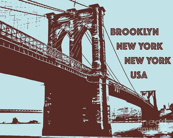The Brooklyn Bridge, New York, Ny Poster