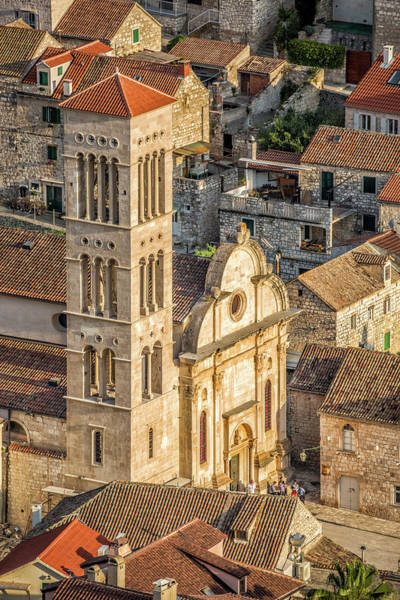 The Cathedral Of St. Stephan In Hvar, Croatia Poster
