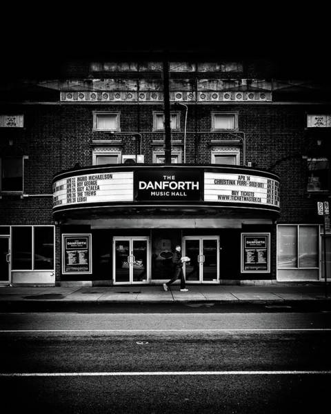 Poster featuring the photograph The Danforth Music Hall Toronto Canada No 1 by Brian Carson