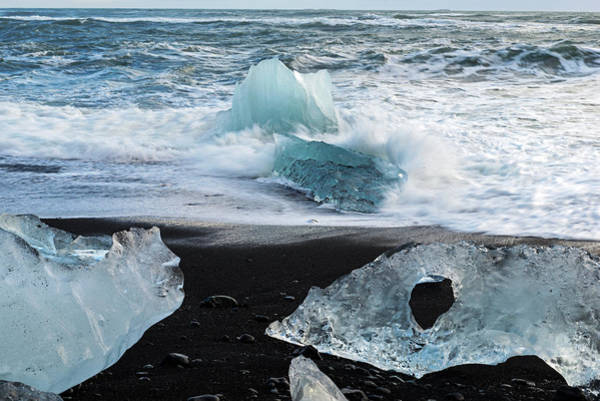 Poster featuring the photograph The Diamond Beach, Jokulsarlon, Iceland by Dubi Roman