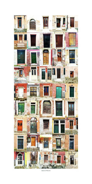 The Doors Of Murano Italy Poster