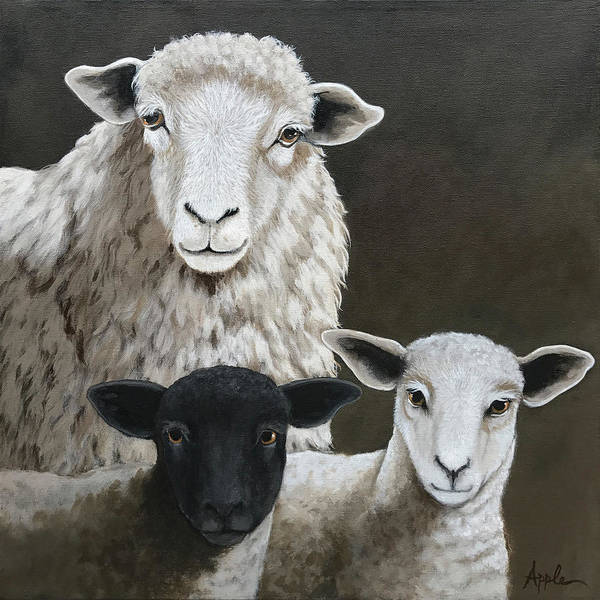 The Family - Sheep Oil Painting Poster