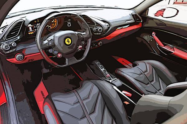 The Ferrari 488 2016 Poster