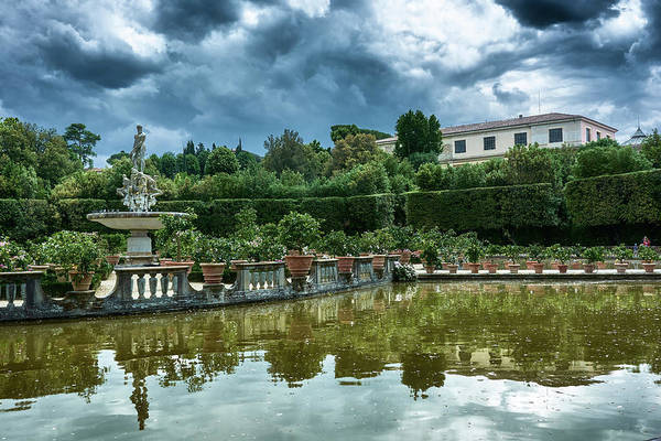 The Fountain Of The Ocean At The Boboli Gardens Poster