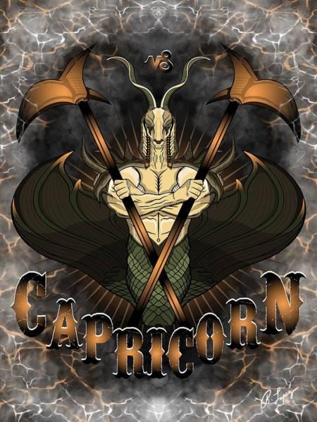 The Goat Capricorn Spirit Poster