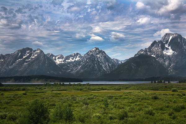 Poster featuring the photograph The Grand Tetons by Shane Bechler