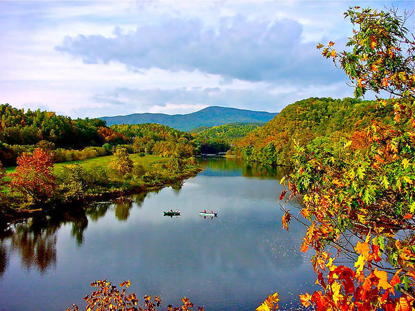The James River Early Fall Poster