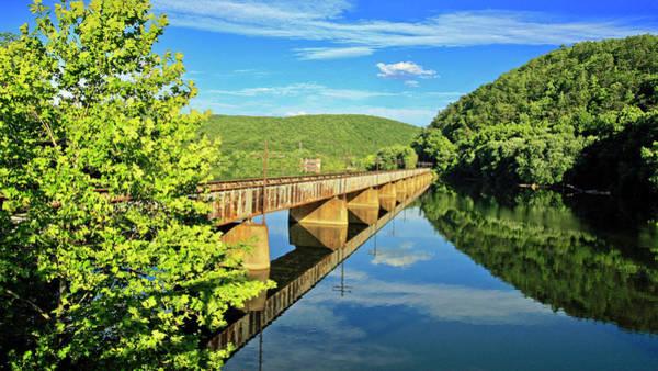 The James River Trestle Bridge, Va Poster