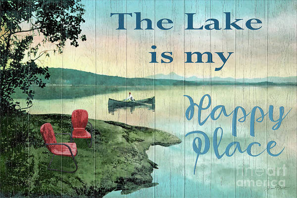 The Lake Is My Happy Place-a Poster