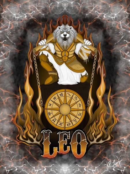 The Lion Leo Spirit Poster
