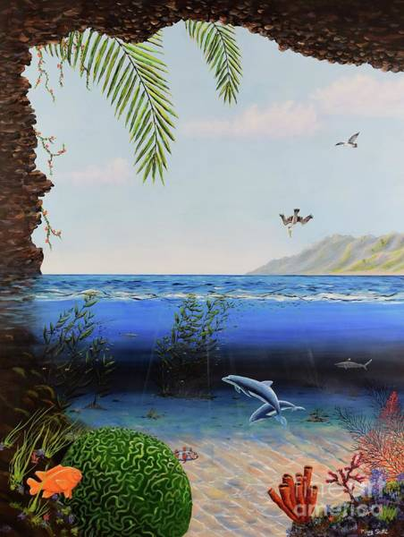 Poster featuring the painting The Living Ocean by Mary Scott