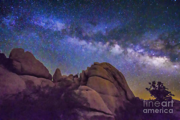 Milky Way Over Indian Rock Poster