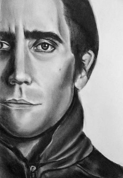 Nightcrawler Movie Art Drawing - Jake Gaalynhaal Charcoal Pencil Drawing - Ai P. Nilson Poster