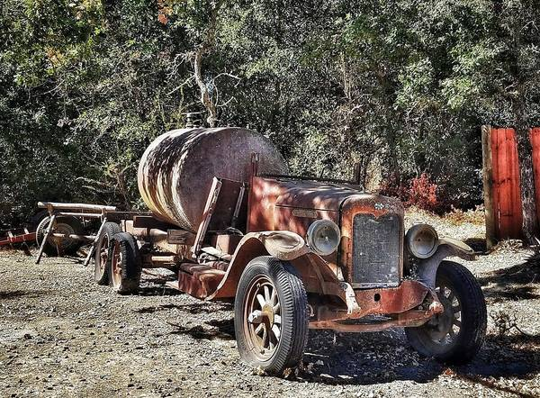 The Old Jalopy In Wine Country, California  Poster