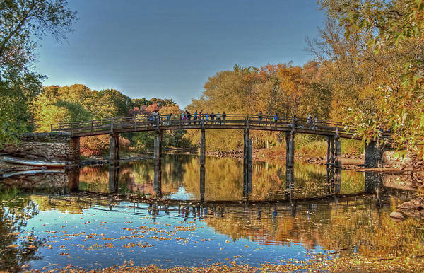 Poster featuring the photograph The Old North Bridge by Wayne Marshall Chase