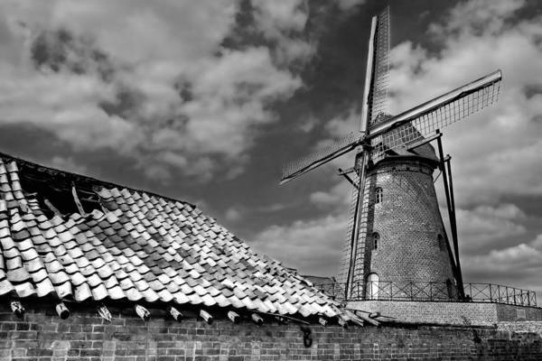 The Old Windmill Poster