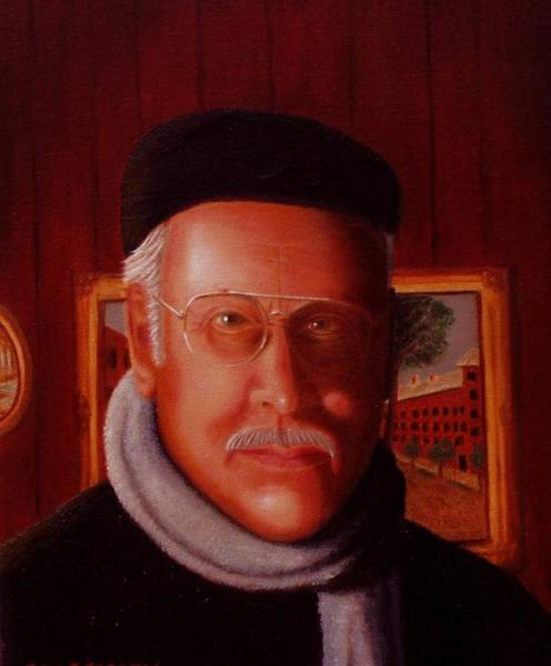 The Painter. Self Portrait Poster