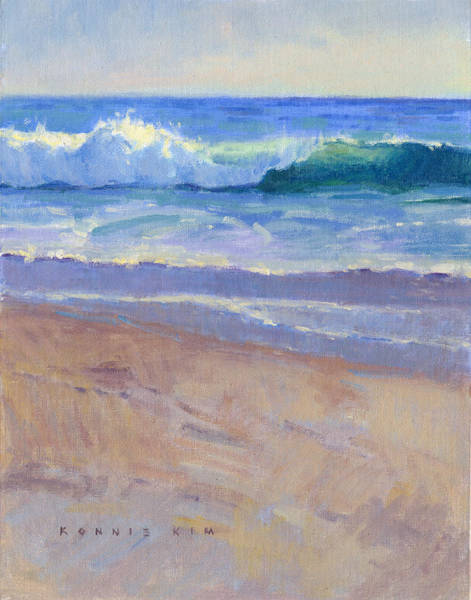 Poster featuring the painting The Healing Pacific by Konnie Kim