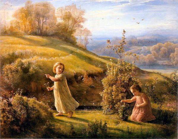 The Poem Of The Soul Spring Anne Francois Louis Janmot 1854. Poster