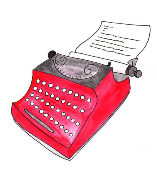 The Red Typewriter Poster