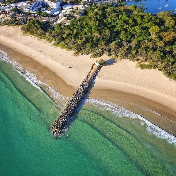 The Sea Wall Near Noosa Main Beach Poster