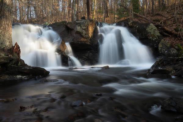 The Secret Waterfall In Golden Light Poster
