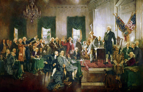 The Signing Of The Constitution Of The United States, 1787 Poster