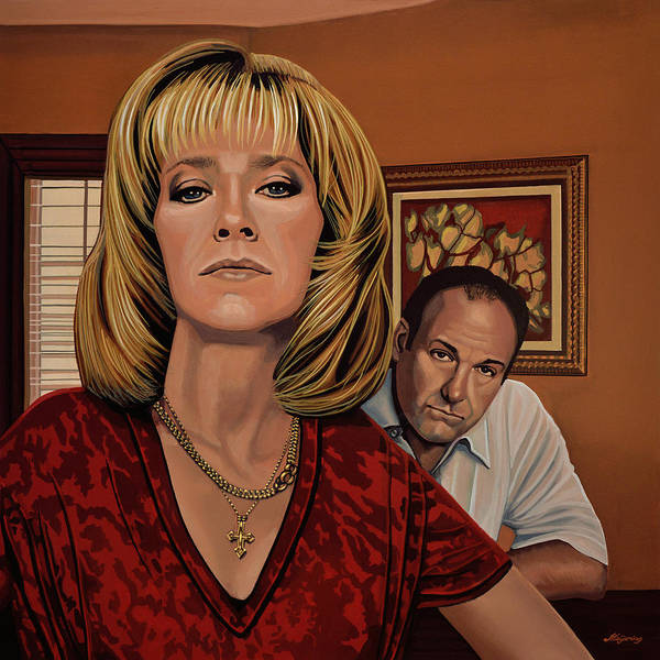The Sopranos Painting Poster