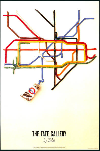 The Tate Gallery - National Galleries And Museums - London Underground - Retro Travel Poster Poster