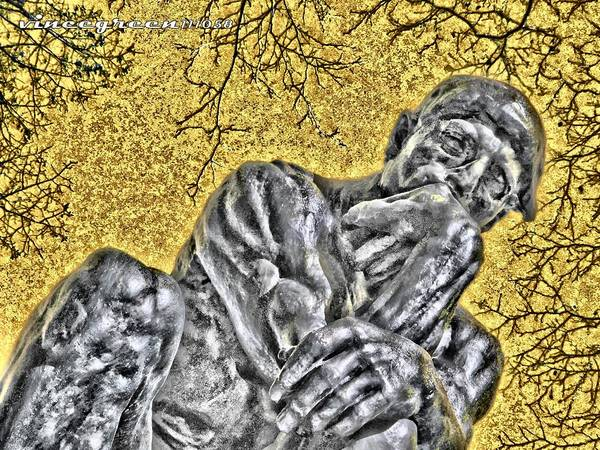 The Thinker - Study #1 Poster
