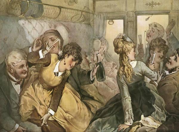 The Train Of Pleasure, Illustration Poster