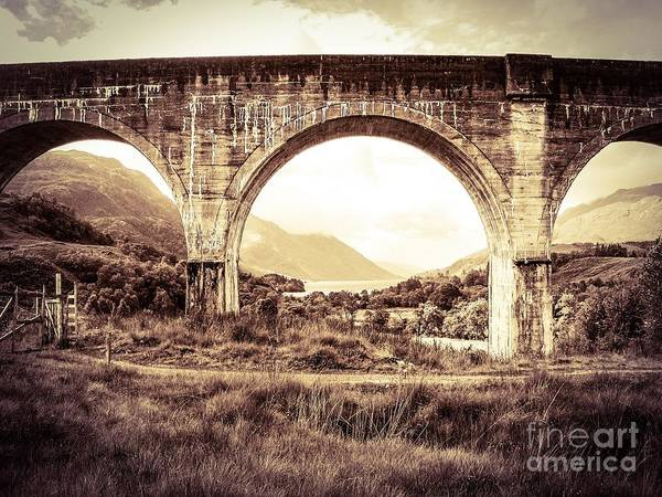 The Viaduct And The Loch Poster
